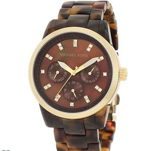 🍁🍂Michael Kors tortoiseshell watch-pre loved🍂🍁